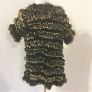 Dolce Cabo Sweaters - Dolce Cabo Rabbit Fur And Knit Sweater/S-Med.